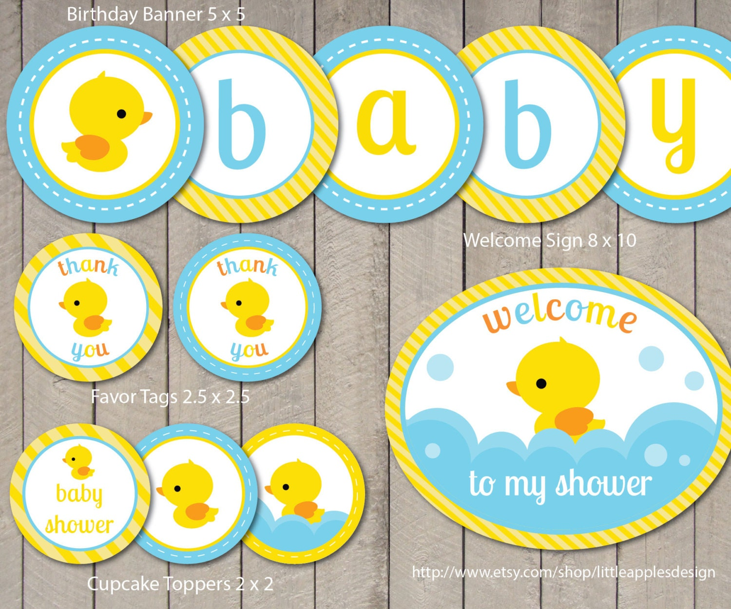 Rubber Duck Baby Shower Package Rubber Duck Baby Shower Pack