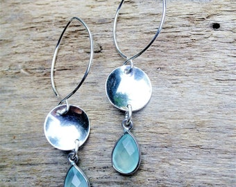 Amy ~ Hand Forged Silver with Green Chalcedony
