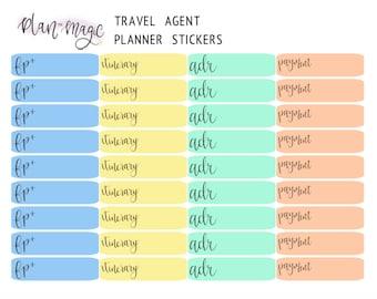 Travel Agent Planner Stickers