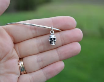 nature lover bangle - cast sterling silver skull bracelet