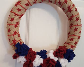 Patriotic wreath, americana wreath, USA, flag wreath, 4th of July wreath, America, wreath