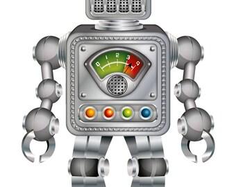 Tech robot decal