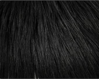 "Black Yeti Faux Fur Fabric (3-4"" Pile)"