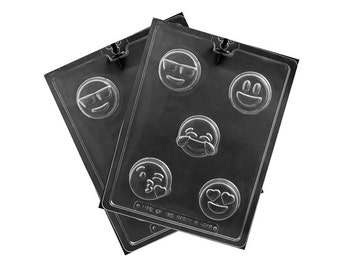 Emoji Chocolate Cookie Mold, Candy Molds, Candy Making
