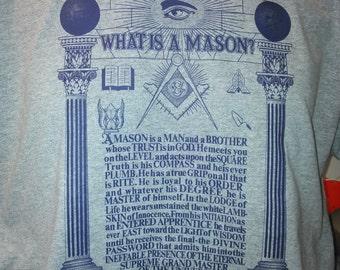 What Is A Mason? Tee-Shirt by Brick & Mortar Designs