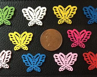 Set of 10 wooden butterflies