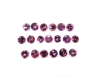 Rhodolite Garnet Round Shape 1.7x1.7mm Approximately 1.00 Carat, January Birthstone, Purplish Red Garnet With Pink Hue, Rose Colored (14218)