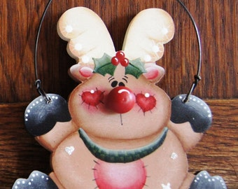 Christmas Wood Reindeer Ornament