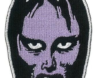 """3.25"""" Girl Vampire Iron-On Patch Horror Spook Show Monster Mask Make-up Dracula Vampira Elvria"""