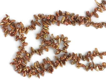 Copper Keishi Pearls