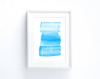 Printable art abstract Ocean painting, Light blue painting large Abstract watercolor print, ocean print, light blue art print, 5x7, 18x24