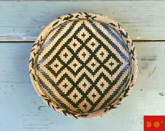 Colombian bowl / natural fiber basket weaving / Basketry bowl / Decorative Storage Woven Natural / Balay / Canasta tradicional colmbiana