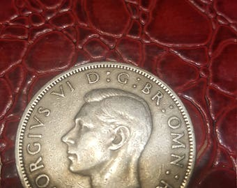 1951 UK SILVER (0.5 fine) Half Crown - Solid F