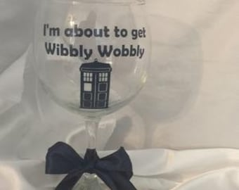 Dr. Who Wine Glass