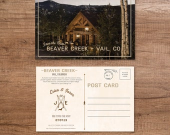 Custom Save The Date- Destination Postcard