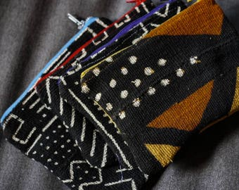 Mud Cloth Clutch Bag, Pencil Case, Gifts, Gifts for Her, Nambili 'Everythang' Clutch