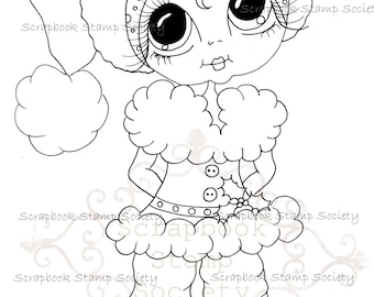 INSTANT DOWNLOAD Digital Digi Stamps Big Eye Big Head Dolls Messy Bessy IMG833 My Besties By Sherri Baldy
