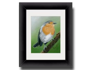 European Robin Print, Giclee Print, Robin Wall Art, Songbird Decor, Robin Art, Bird Wall Décor, Bird Wall Art, Realism, Realistic art