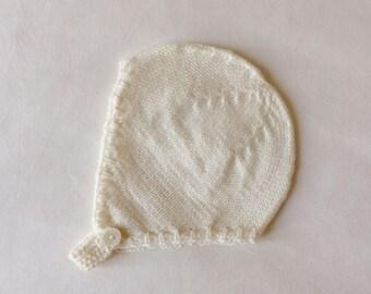 Baby bonnet 100% merino wool