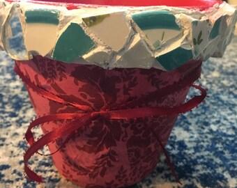 A Small Mosaic Planter Pot