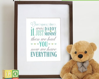 Nursery Print quote, Family quote, Love Quote, heart print  Item 001