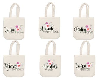 Bridal Party Tote Bag - Tote Bags for Bridal Party - Personalized Tote - Canvas Tote Bags - Bridesmaid Gift - Monogram Tote