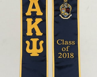 Alpha Kappa Psi Class of 2018 Graduation Stole