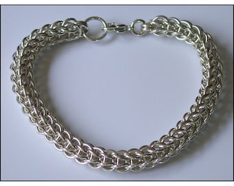 Full Persain Chain Maille Bracelet in Argentium Sterling Silver