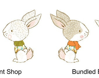 Bundled Bunnies Stickers - Perfect for scrapbooking, planners and kids