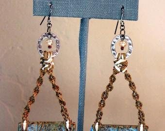Seashell  and rope inspired earrings