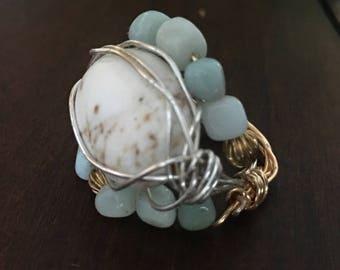 Marble Daisy Ring