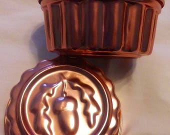 Copper colored tart/jello molds