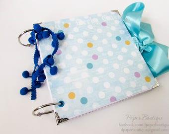 Boy Photo Album,Baby Blue Scrapbook Album,Baby Scrapbook,Handmade Baby Boy Photo Album,Newborn Keepsake Gift,Baby Boy Gift