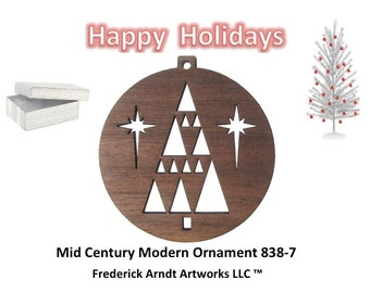 838-7 Mid Century Modern Christmas Ornament