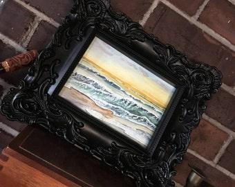 Watercolor Wall Art Print, Glistening shores