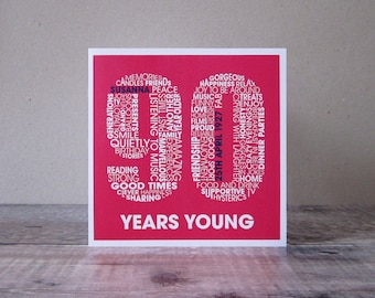 90th Birthday Personalised Card - Personalized 90th Birthday Card - Birthday Card for Him - Birthday Card for Her - Ninety Years Old