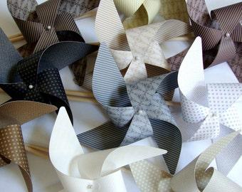 Pinwheels NEUTRALS you choose set of 8 Large Pinwheels