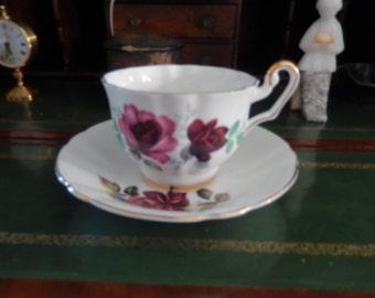 ENGLAND STAFFORDSHIRE ROYAL Eton Teacup and Saucer