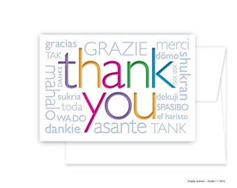 Thank You - Greeting Card in different languages