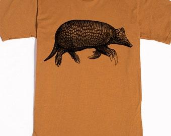 Men's Tshirt - Armadillo Shirt - Animal T-shirt - Graphic Tee Shirt - Men's Gift Ideas - Weird Stuff