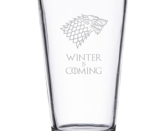 Stark Winter Is Coming - Pint or Whiskey/Rocks Glass