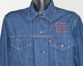 80s Levis Denim Kenny Loggins Vox Humana Tour Jacket Large