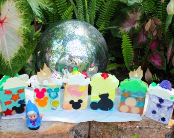 Disney Themed Natural & Organic* Soap, Magical Bubbles, Fish Extender or Park Trip Gifts, Fairy Godmother Approved !