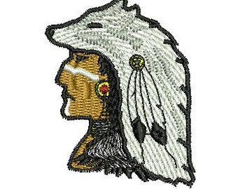grey wolf embroidery design