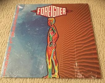 Foreigner unusual heat Vinyl Record LP still in shrink 1991 usa album