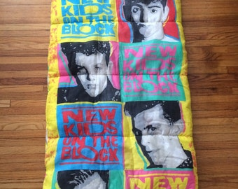 Vintage New Kids on the Block Band Portrait Sleeping Bag (1990)