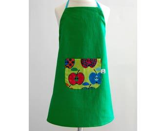 child kitchen apron progressive apron green apples