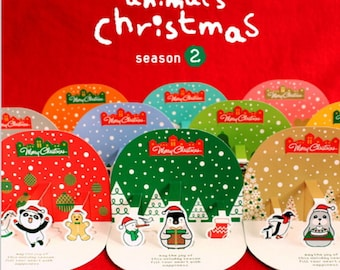 Cute Animal 3D Christmas Card Sets