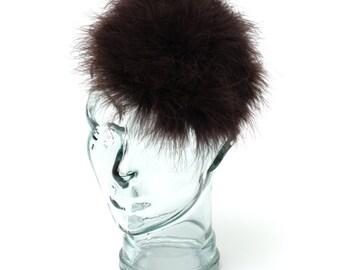 Brown Feathered -Headband/ fascinator