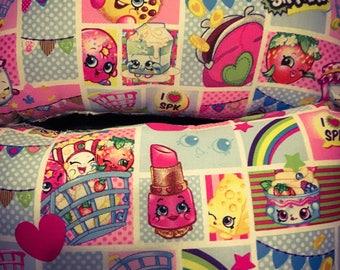 Small rectangular Shopkins pillow